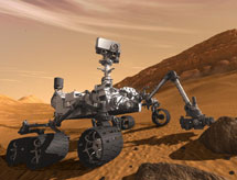 Recreaci�n del 'Curiosity' en Marte. | NASA