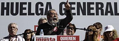 Cándido Méndez, secretario general de UGT. | Alberto di Lolli
