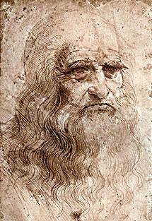 Retrato de Da Vinci.