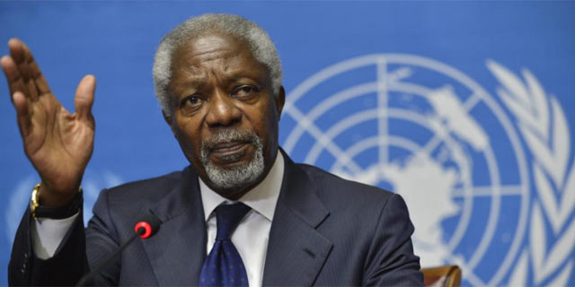 Kofi Annan, enviado especial de la ONU para el conflicto sirio. | Efe