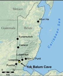 Localización de la cueva en la que se tomaron las muestras. | Claire Ebert