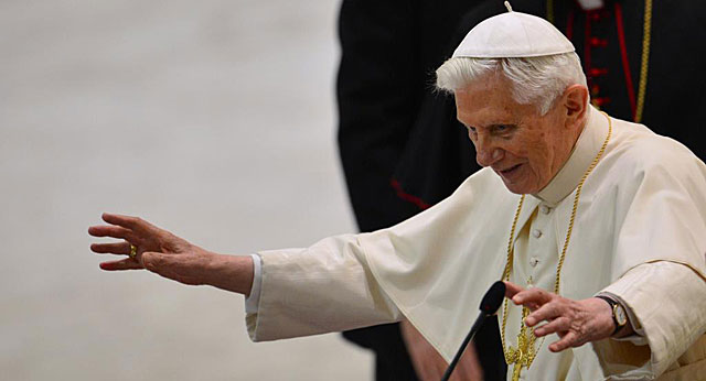 El Papa, ante el Clero de Roma en el Aula Pablo VI del Vaticano. | Afp