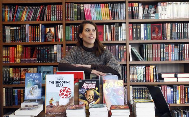 Christina Gebbia, en la librería Rana Books de Valencia. | José Cuéllar