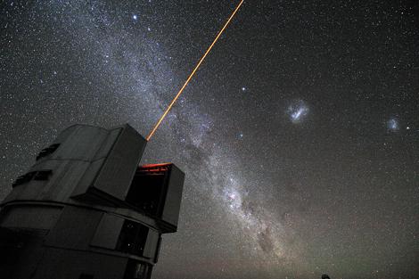 Telescopio VLT, en el desierto chileno de Atacama, en plena acción. | ESO