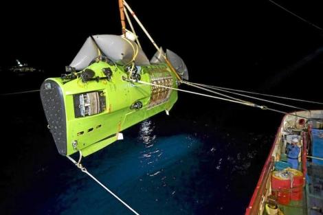 Buendiario- El 'Deepsea Challenger', antes de la inmersión de 2012. | National Geographic.