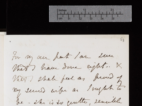 Detalle de uno de los manuscritos de Darwin digitalizados. | Cambridge University Library