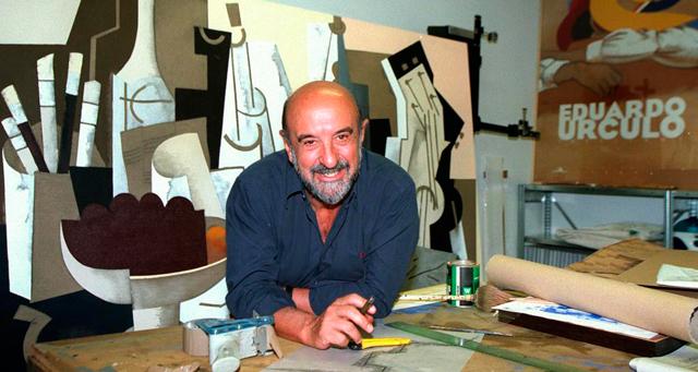 Eduardo Úrculo en su taller. | Julián Jaén