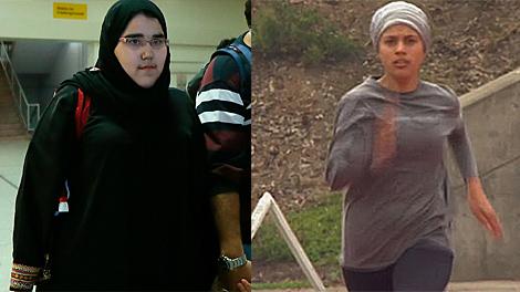 Las dos mujeres que acudieron a los JJOO por Arabia Saudí.| Afp/Olympic.org