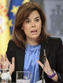 Soraya Sáenz de Santamaría tras el Consejo de Ministros. | Efe