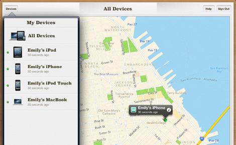 Pantalla de la aplicación 'Buscar mi iPhone'.