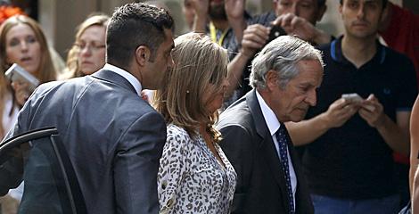 Rosalia Iglesias, mujer Luis Bárcenas, a su llegada a la AN.   Ballesteros / Efe