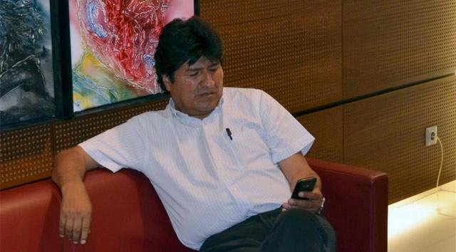 Morales, durante su retención. | Efe