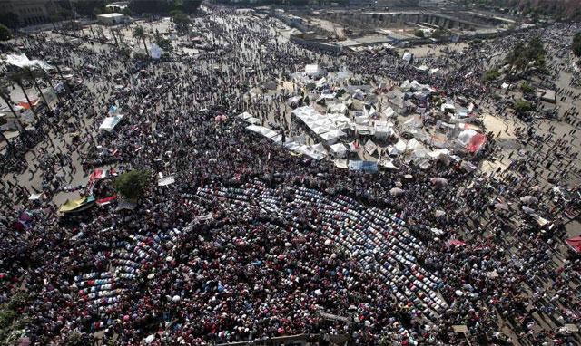Protestas en la plaza Tahrir. | Foto: Efe