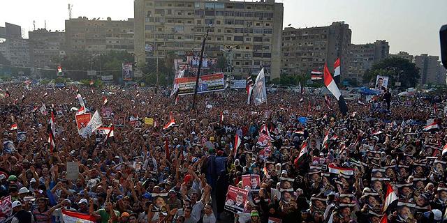 Manifestación en apoyo de Mursi, en El Cairo. | Efe
