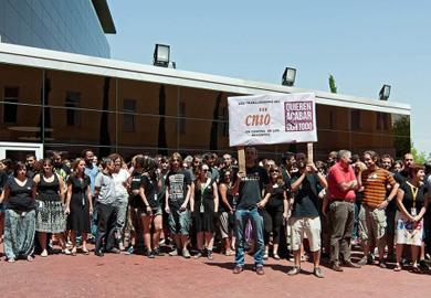 Protestas por los recortes en el CNIO en junio de 2012.| EM