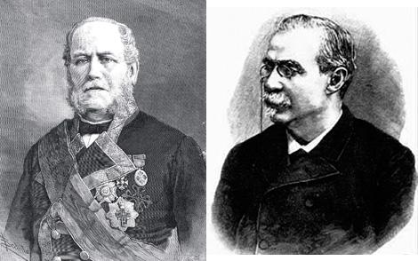 A la izquierda, Manuel de la Pezuela. A su derecha, el presidente Cánovas.