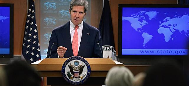 John Kerry durante su intervención. | Foto: Afp