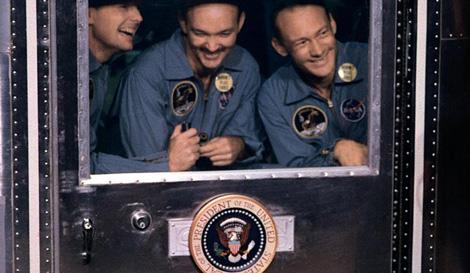 Los astronautas del 'Apollo 11' a su regreso de la Luna. | NASA