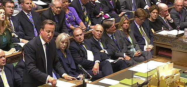 David Cameron interviene en el Parlamento sobre la cuestión siria. | Efe