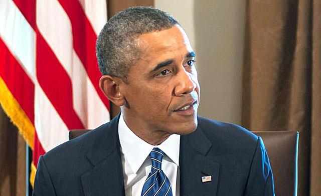 El presidente estadounidense, Barack Obama, en la reunión con miembros del Congreso. | Afp