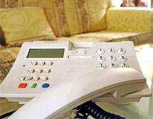 Teléfono fijo en casa. | Carlos Díaz