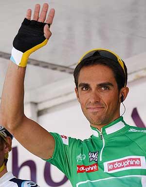 Alberto Contador, en el Dauphiné. (REUTERS)