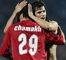 Chamakh y Gourcuff. (Foto: Ap)