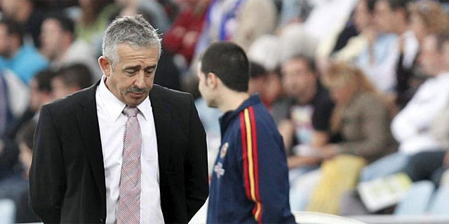 Manolo Preciado, durante un partido del Sporting. (AFP)