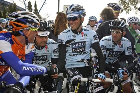 Contador, a la salida en Portugal (Foto: Reuters).