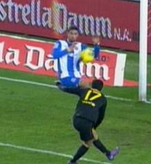 La mano de Raúl Rodríguez. (Canal +)
