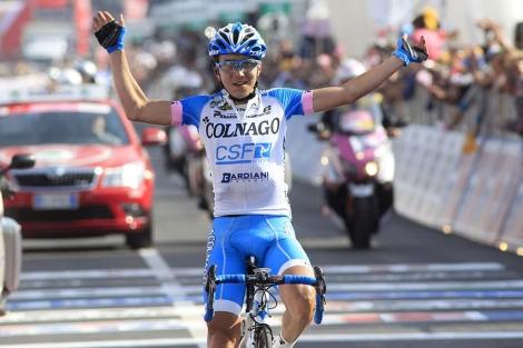 Domenico Pozzovivo, cruzando la línea de meta. | AFP