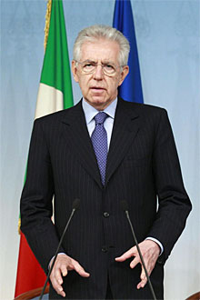 Mario Monti, primer ministro italiano.