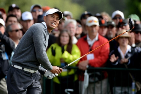 Tiger Woods, durante la primera jornada del US Open. | Afp