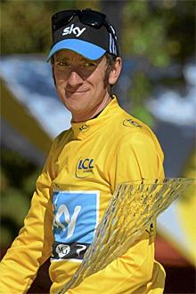 Wiggins, en el Tour. | Efe