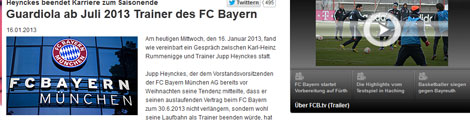La web del Bayern confirmando la noticia. (EFE)
