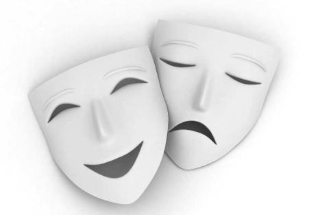 Dos máscaras de teatro: una expresa alegría y otra tristeza | El Mundo