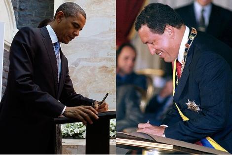 Dos zurdos contemporáneos, Barack Obama y Hugo Chavez (AP | Reuters)