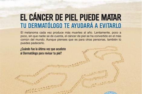 Cartel de la campaña Euromelanoma 2011. | AEDV