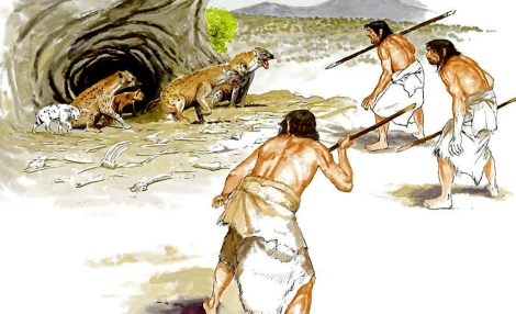 Representación de cazadores en la Prehistoria. | Dionisio Álvarez