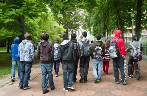 Estudiantes adolescentes en Vitoria. | Mitxi