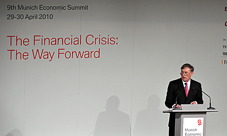 El jefe de Estado alemán, Horst Köhler, durante un foro económico en Múnich. | Ap
