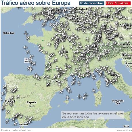 Última hora del tráfico aéreo en Europa