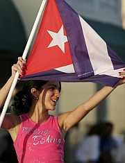 El exilio cubano celebró el estado de Castro en Miami. (Foto: EFE)