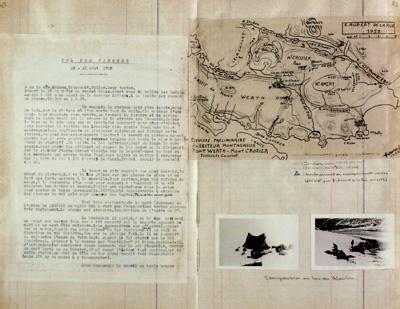 Informes oficiales. El diario de a bordo de una incursión francesa a las islas Kerguelen de la Antártida se llevó a cabo entre 1949 y 1953.