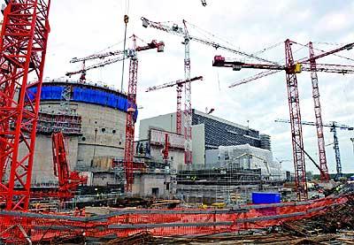 Tercera generación. Obras de construcción de la central finlandesa de Olkiluoto 3.