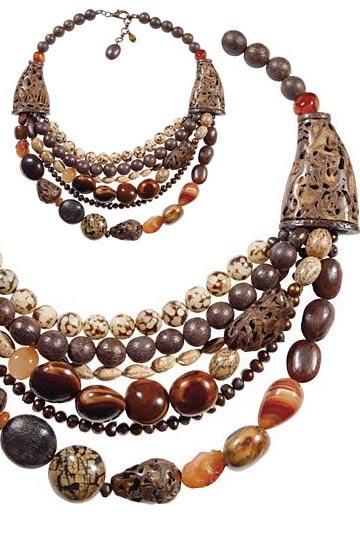 elaborados en diferentes materiales como Bambú, Guadua, Tagua, Coco, Totumo, cortezas, semillas y fibras naturales de Suramérica entre otros.