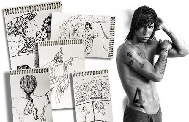 sergio ramos tattoos. Sergio Ramos Tattoos: Guti,