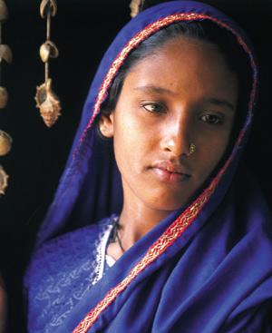 Una niña india. Foto: EL MUNDO
