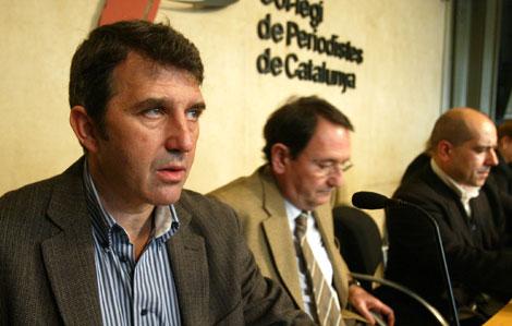 Coordinadora 'Por una Cataluña en libertad. No a las multas lingüísticas'.| D. U.