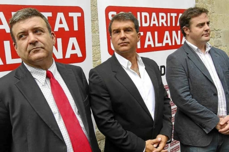 Laoprta, Bertran y Tena, en un acto de Solidaritat Catalana. | Christian Maury